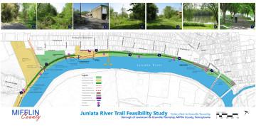 Juniata River Trail Feasibility Study, Borough of Lewistown & Granville Township, Mifflin County